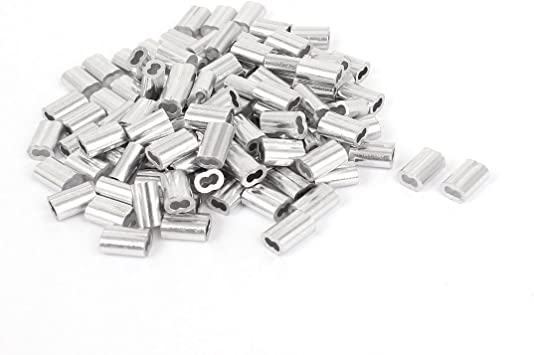 Made in USA Aluminum Swage Sleeves for 5//16 Diameter Cable 100 pcs
