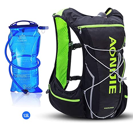 AONIJIE 10L Lightweight Waterproof Cross-Country Backpack Running Backpack Marathon Cycling Bags Running Vest Kettle