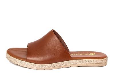 GAGLIANI RENZO Damen - GR036_Tan - Sandale - Glattleder - Hergestellt in Italien