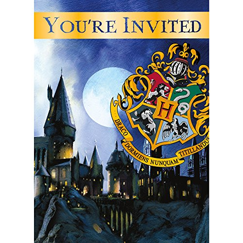 Harry Potter Invitations (8 Count) ,White, one size