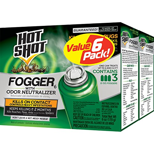 Hot Shot Fogger6 With Odor Neutralizer, 3/2-Ounce, 2-Pack (Best Product To Kill Roaches)