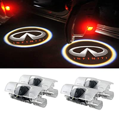 Moonet 4 x Door LED Courtesy Shadow Ghost Welcome Lamp Projector Light for Infiniti Ex Fx G M Series Q50 Q70 Q60 Q70 Qx50 QX56 QX80(pack of 4): Automotive