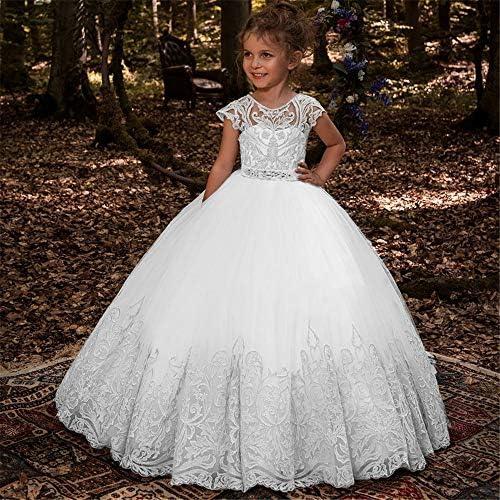 Vestido de Baile Falda de Encaje para niña de Flores Sin Mangas ...