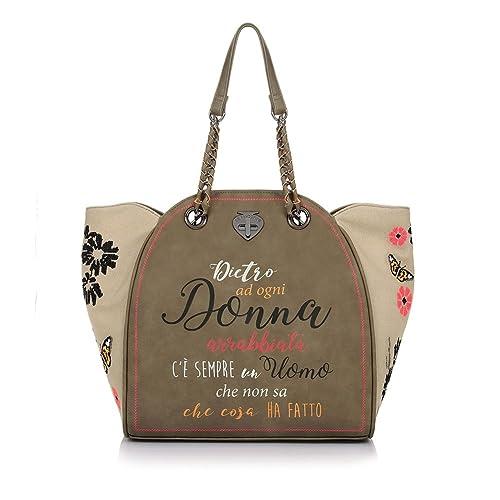 Le Pandorine CLASSIC CROSS Shopping Donna Verde PZ: Amazon