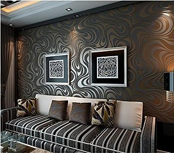Qihang Moderne Luxus Abstrakte Kurve 3d Tapete Rolle Beflockung Für