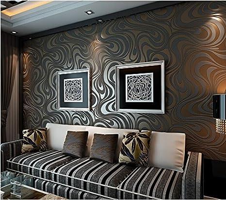 Qihang Luxe Modernes Abstraite Courbe Fond D Ecran 3d Rouleau Papier