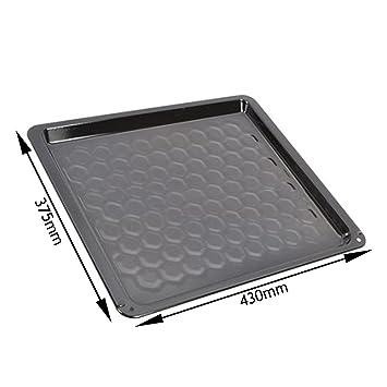 Spares2go Universal esmalte vítreo bandeja para horno lata para horno Cookers (580 mm X 375