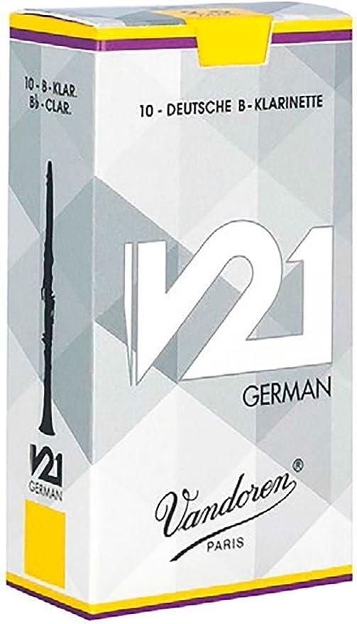 Cañas Vandoren clarinete Bb 2 V21 alemán (caja de 10): Amazon.es: Instrumentos musicales