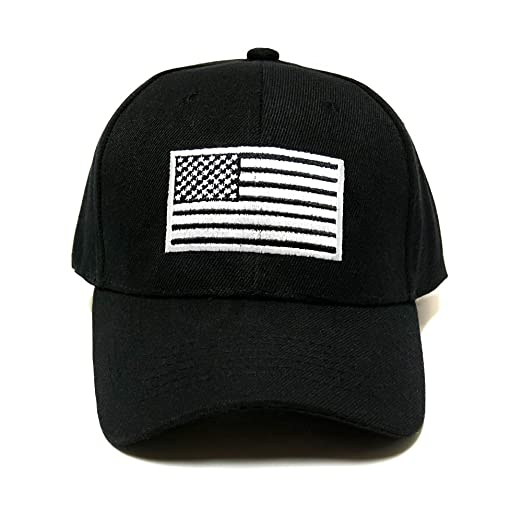Snapking Black and White USA American Flag Hat Tactical Operator ... 95ab4f86b66