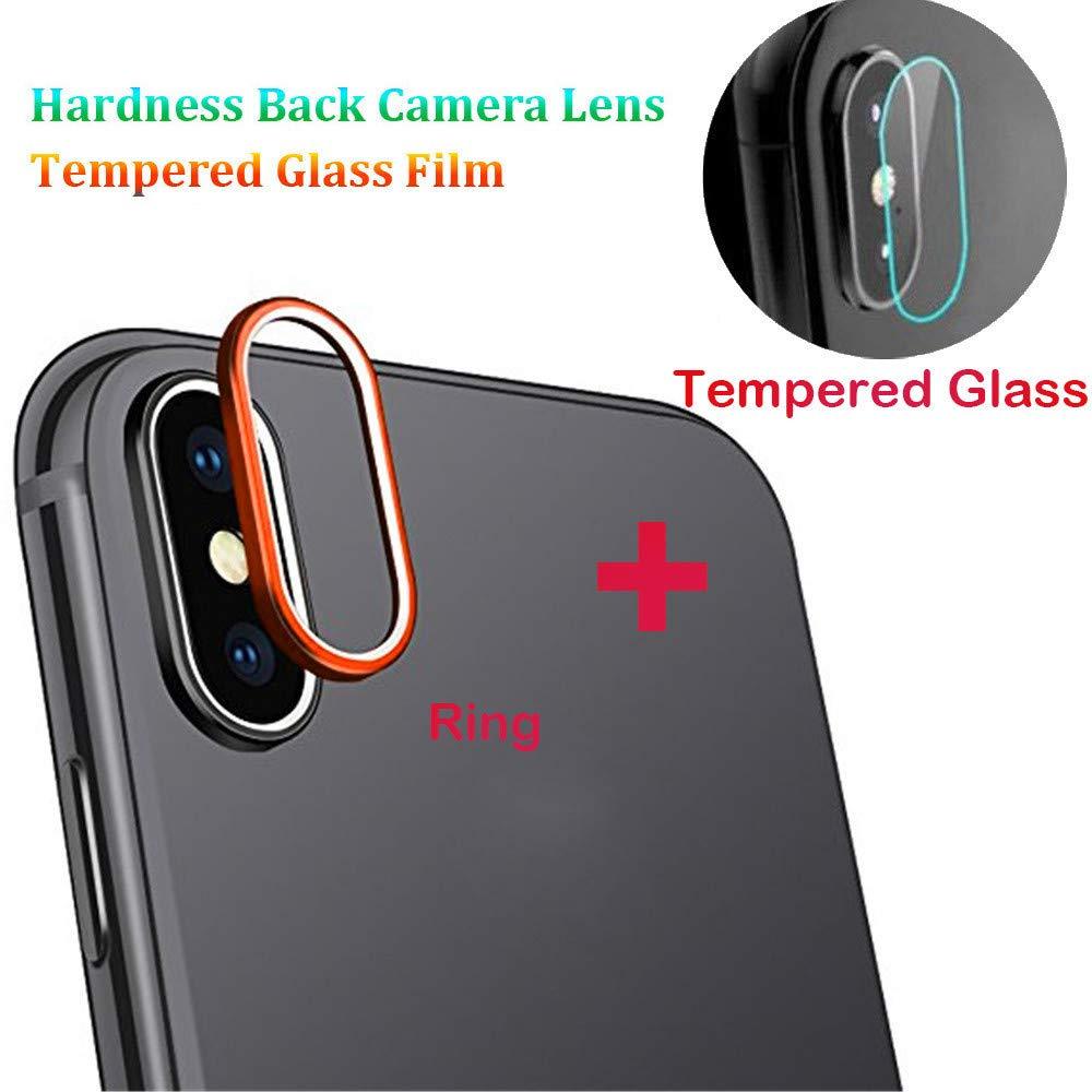 Für iPhone XS Max 6.5 Zoll Kameraring [Silber], Kamera Transparentes Schutzglas,Ultra-klar Hohe Transparenz 9H Härte, Anti-Kratzen,Anti-Öl, Anti-Bläschen Panzerglas Displayschutzfolie Anti-Öl Colorful