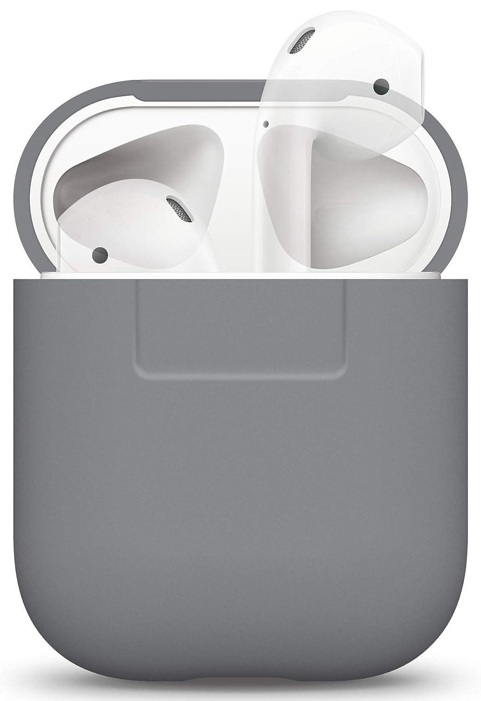 Extra Protecci/ón - Soporta Carga inal/ámbrica Sin Complicaciones Gris Lavanda LED Frontal no Visible elago Funda Silicona Compatible con Aud/ífonos Apple AirPods 1 /& 2