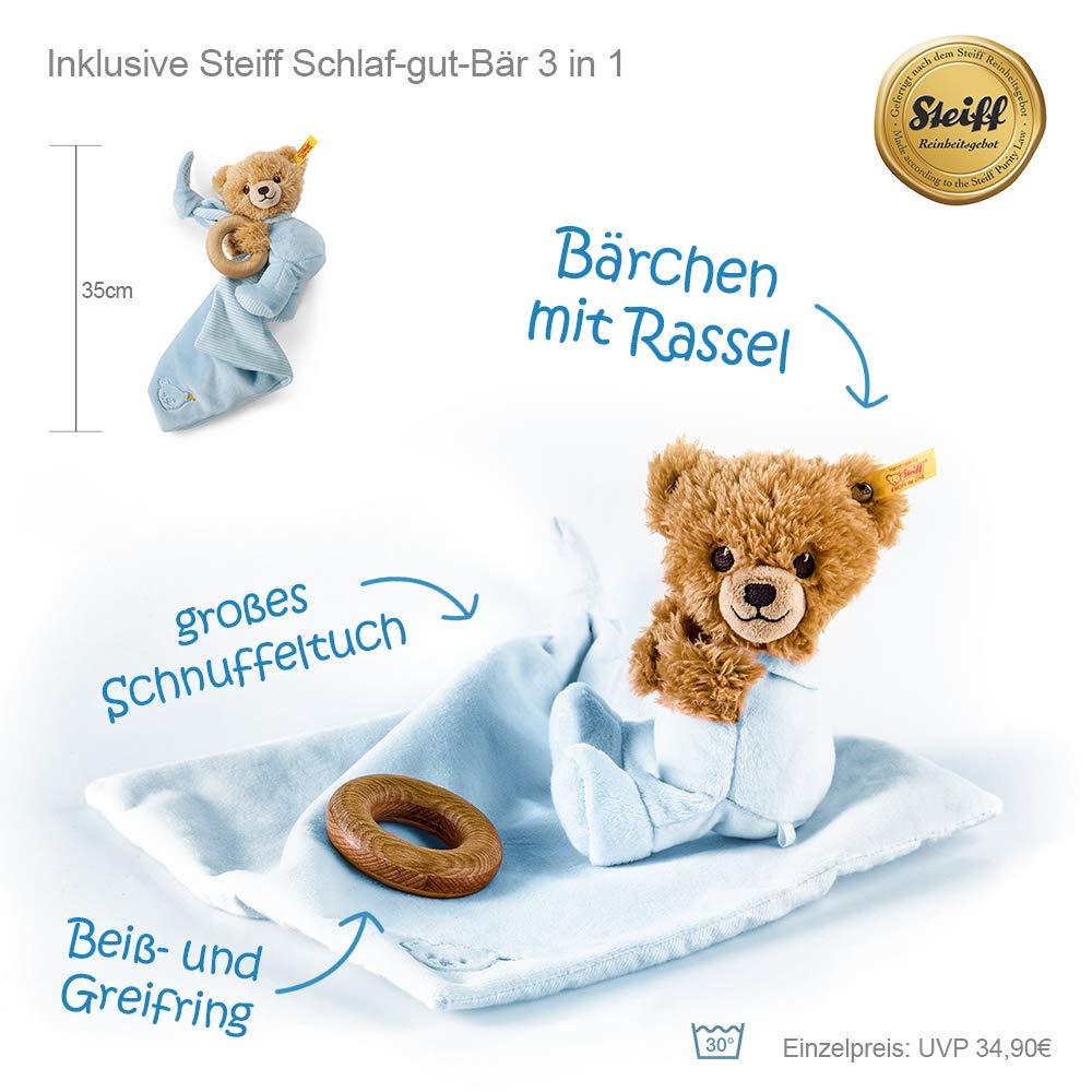Steiff B/ärchen 3in1 Timfanie/® Windeltorte blau-punkt 2-st/öckig 2 mit Gravur Windeln Gr