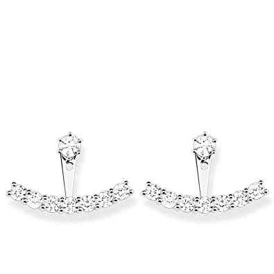 074301d79 Thomas Sabo Women-Ear studs Glam & Soul 925 Sterling Silver Zirconia white  H1904-051-14: Amazon.co.uk: Jewellery