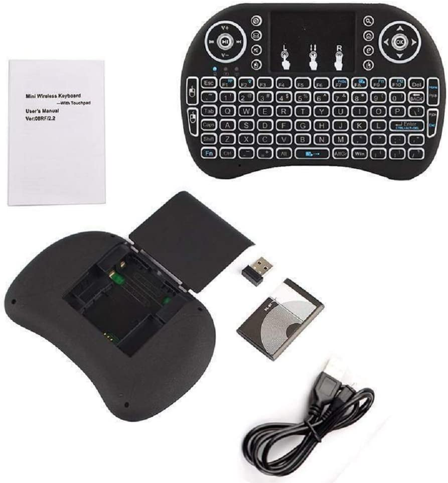 White Black Top Wireless Keyboard Remote Controls Touchpad for Android TV Box #ABTY