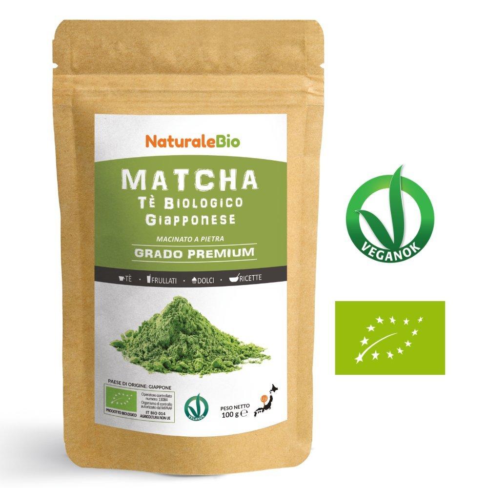 Matcha Tee Pulver Bio [Premium-Qualität] 100g | Original Green Tea aus Japan | Japanischer Matcha ideal zum Trinken | Grüntee-Pulver für Latte, Smoothies, Matcha-Getränk | Hergestellt in Uji, Kyoto.
