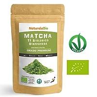 Thé Matcha Bio Japonais [ Premium Qualité ] 100 gr | Thé Vert Matcha en Poudre 100% Naturel | Matcha Green Tea Produit au Japon Uji, Kyoto | Idéal à Boire, pour Cuisiner et dans le Lait| NATURALEBIO®