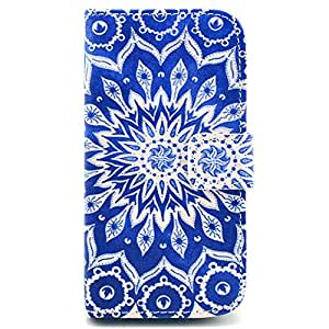 Casea Packing Tribal Flowers Floral PU Leather Wallet Case For Samsung Galaxy S4 Mini i9190