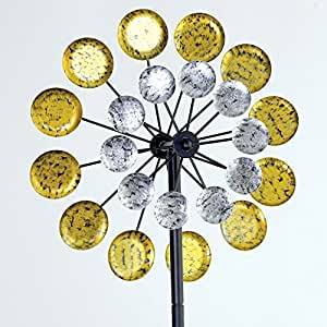 Bits and Pieces - Suns and Moons Orbiting - 152cm Wind Spinner - Kinetic Wind Sculpture