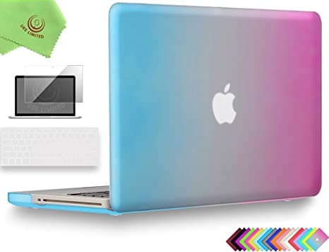 + Microfibre Cleaning Cloth Model A1278 Non Retina UESWILL Smooth Touch Matte Hard Shell Case Cover for MacBook Pro 13 inch with CD-ROM Clear