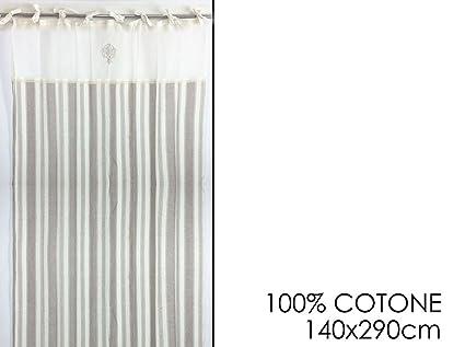 Tenda da finestra verticale 100% cotone con lacci stile provenzale ...