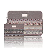 CanvasArtisan Dust-Proof Laptop Sleeve Protective Case for 15-15.6 Inch Tablet Computer, Small Storage Bag for Accessories, Ethnic Style