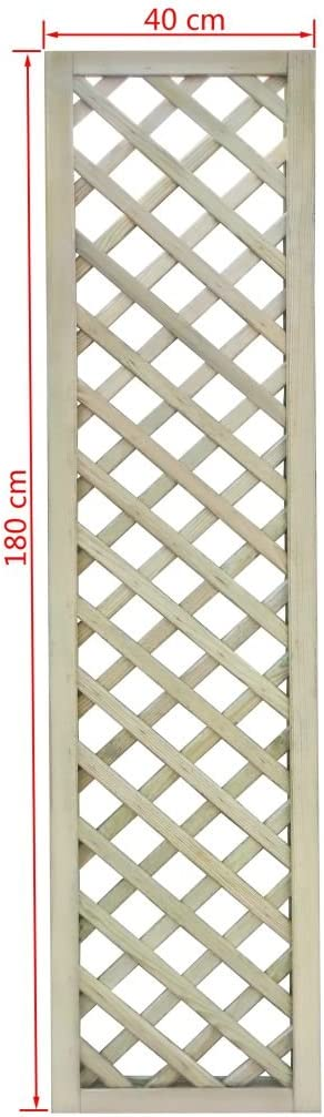 40/×180 cm Rankgitter mit Rahmen Gartenzaun Rankhilfe Holzzaun Pflanzengitter Kiefernholz Impr/ägniert