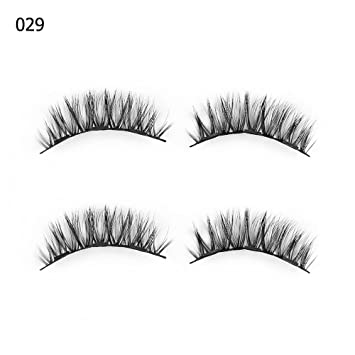 8877f2cd502 Amazon.com : 1 Set 0.07 Triple Magnetic False Eyelashes Extension Tools  Full Coverage Glue-Free Magnets Eye Lashes Thick Long Makeup Tools 029 :  Beauty