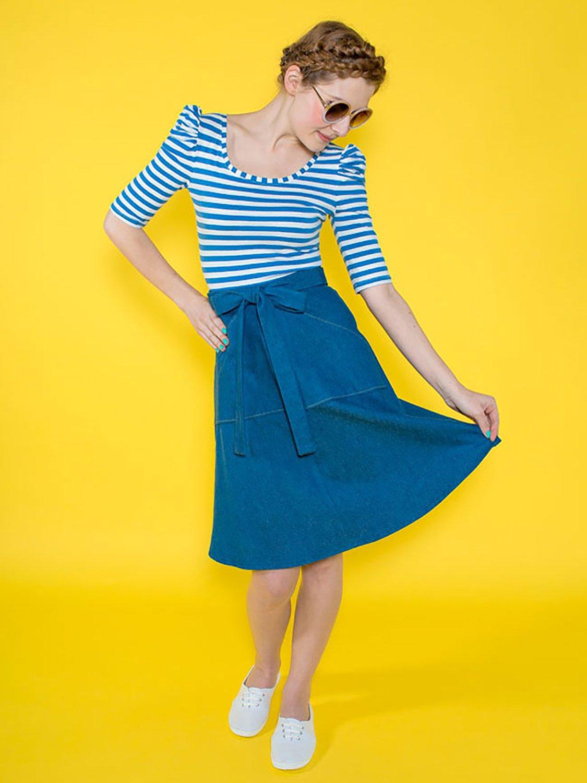 Tilly y el patrón de Costura para Botones Miette Falda: Amazon.es ...