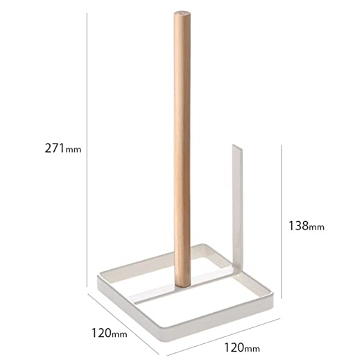 BOX Packing Advanced beach wood material Standing Paper Towel Holder applying powder coating coating paper towel holder wood