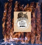 HDP Braided Bully Sticks Odor FREE (12″ Bully Sticks, Pack_of_10) Review
