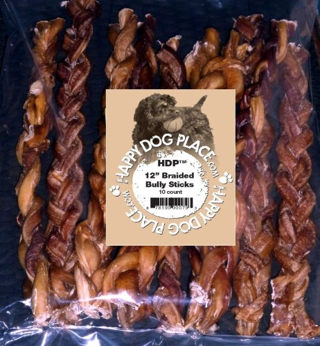 HDP Braided Bully Sticks Odor FREE (12