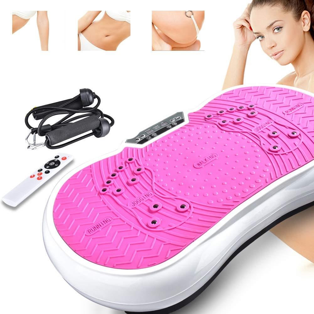 L&X Maquina de vibracion Ejercicio Plataforma de Placa vibratoria Entrenador Escultor de Cuerpo Aptitud Rosado (220V: Amazon.es: Deportes y aire libre