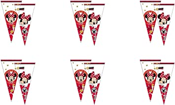 PEQUEFIESTA 00470; Pack 12 Conos Disney Minnie Mouse; Ideal para ...