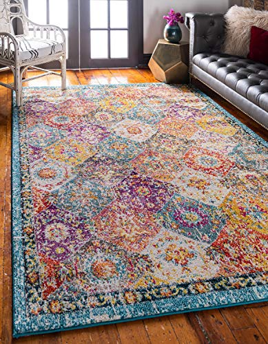 Unique Loom Penrose Collection Distressed Traditional Vintage Multi Area Rug (8' 0 x 10' 0)