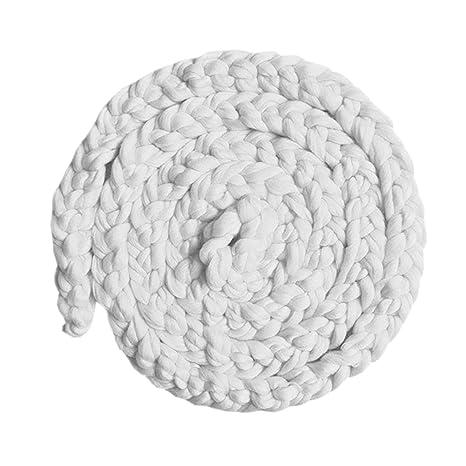 Butterme Bebé Niños Muchachos Hecho A Mano Crochet Blanket Braned Photography Prop(Blanco)