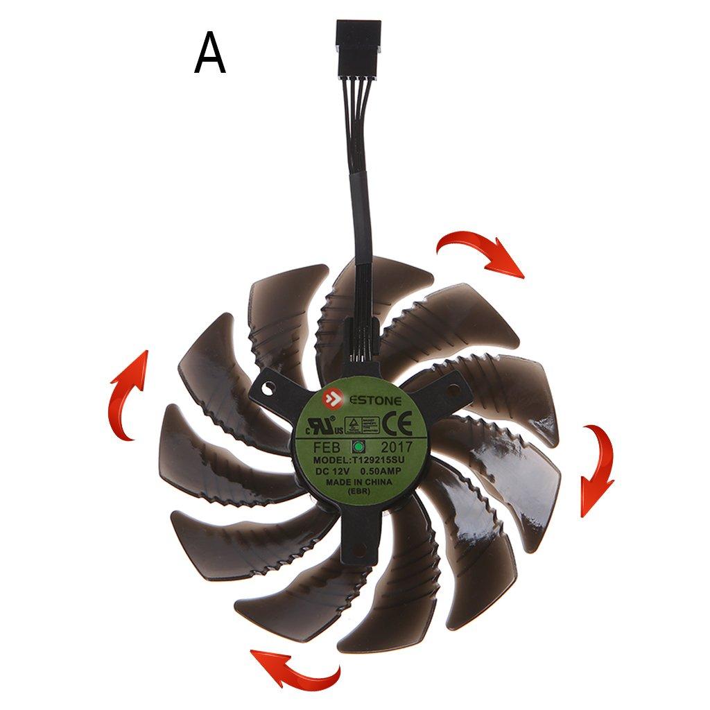 RingBuu T129215SU 88mm Graphics Card Cooling Fan For Nvidia Gigabyte GTX Aorus-Clockwise