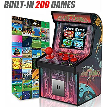 Amazon.com: GBD Kids Mini Retro Arcade Game Cabinet Machine with ...