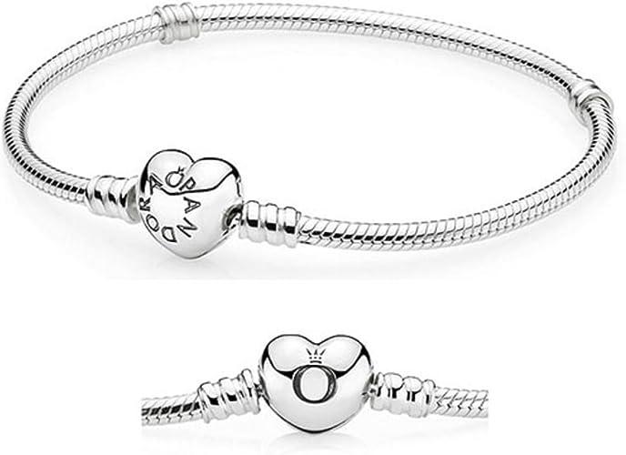 Amazon.com: Pandora 590719 Corazón Cierre pulsera de encanto de ...