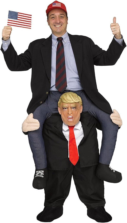 President Donald Trump Shoulder Carry Ride On Piggy Back Fancy Dress Me Costume