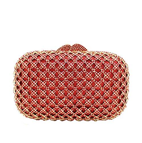 Diamant De De De Gamme Red Femme Pour Sac Haut Luxe Embrayage Soirée Diamant En BZx4z6q