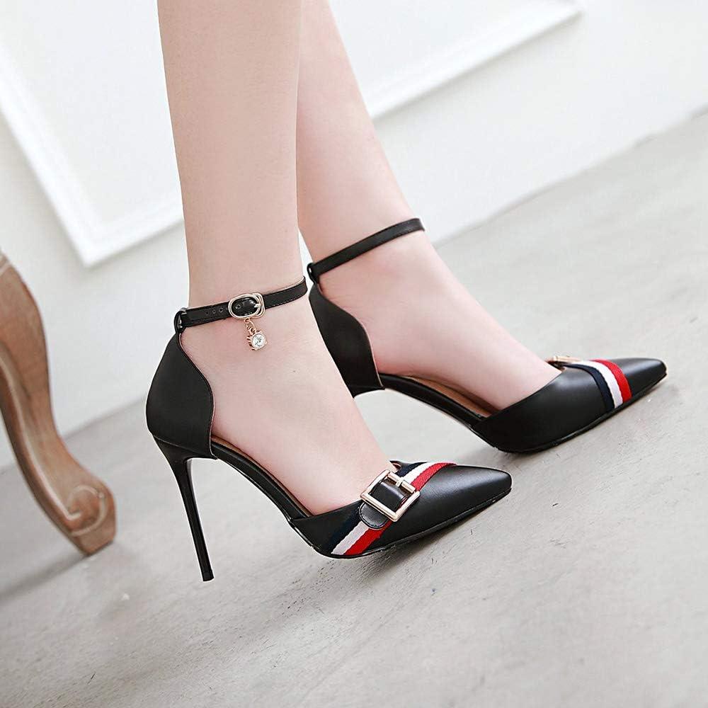 Zanpa Women Shoes Fashion Stiletto Heels Sandals Ankle Strap