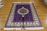 Yuchen New 4x6ft Turkish Islamic Purple Prayer Persian Handmade Vintage Silk Carpet
