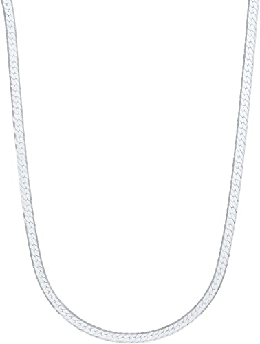 3mm Genuine 925 Sterling Silver Nickel-Free Small Italian Snake Chain Bracelet Bonus Polishing Cloth