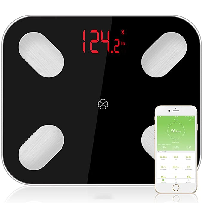 Bluetooth Body Fat Scale Floor Scientific Electronic LED Peso Digital Baño Home Balance Bluetooth APP Android O IOS.ZHA-GOO: Amazon.es: Deportes y aire ...