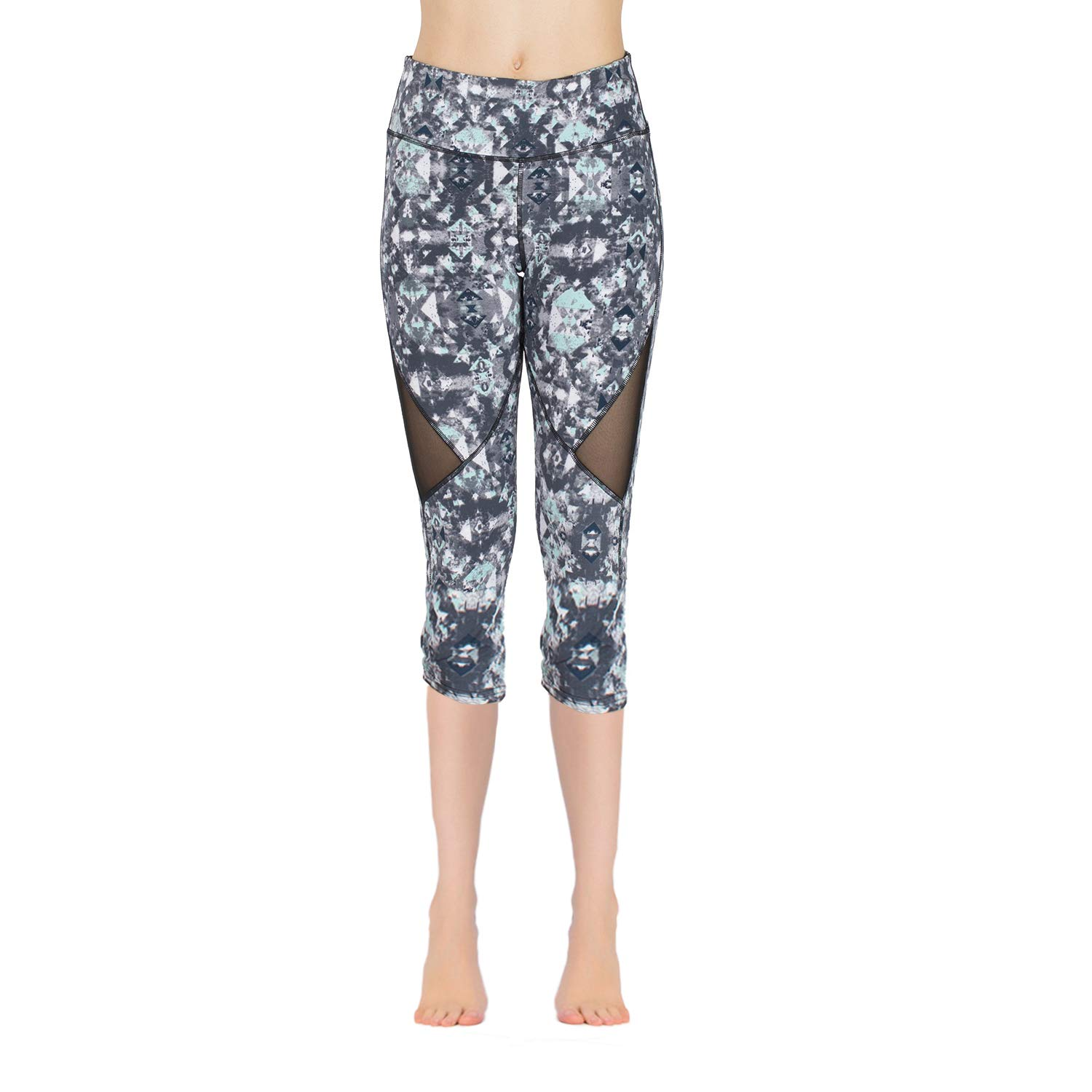 Smg10 bluee Isports Women's Yoga Pants w Slimming Tummy Control (High Waisted)