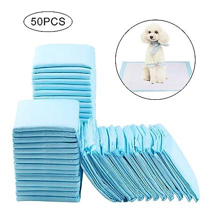 RCruning-EU Empapadores Perros Toallitas de Entrenamiento para Mascotas 60 cm x 45 cm 50 Unidades