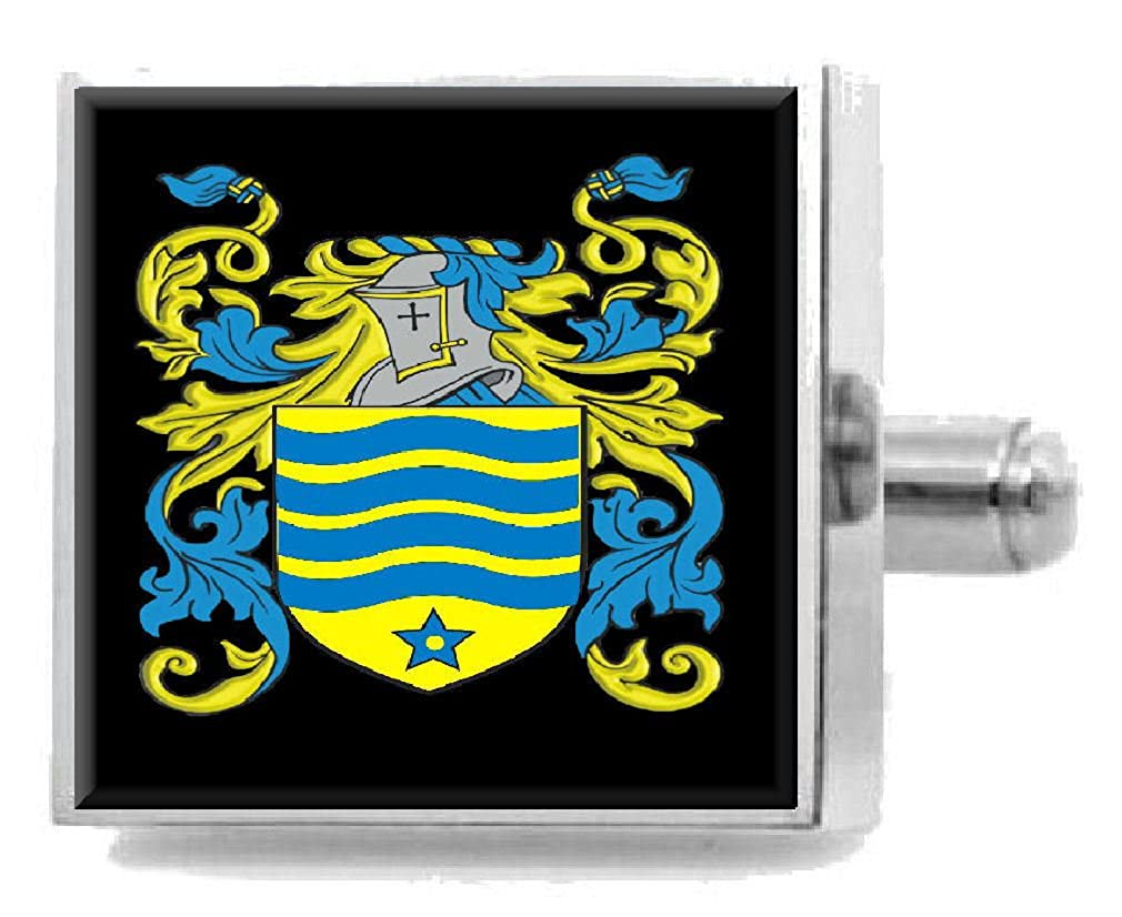Select Gifts Sterritt Scotland Heraldry Crest Sterling Silver Cufflinks Engraved Box