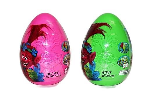 2 huevos de Pascua en relieve con caramelo, color rosa y ...