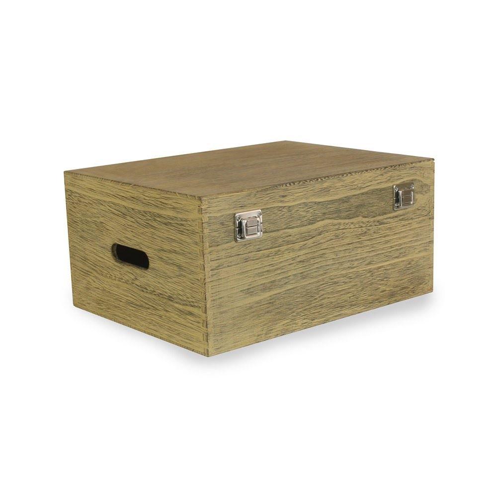 40cm Oak Effect Wooden Box