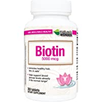 Nature's Wonder Biotin 5000mcg Tablets, 300 Count
